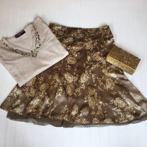 NWT Banana Republic Silk Skirt